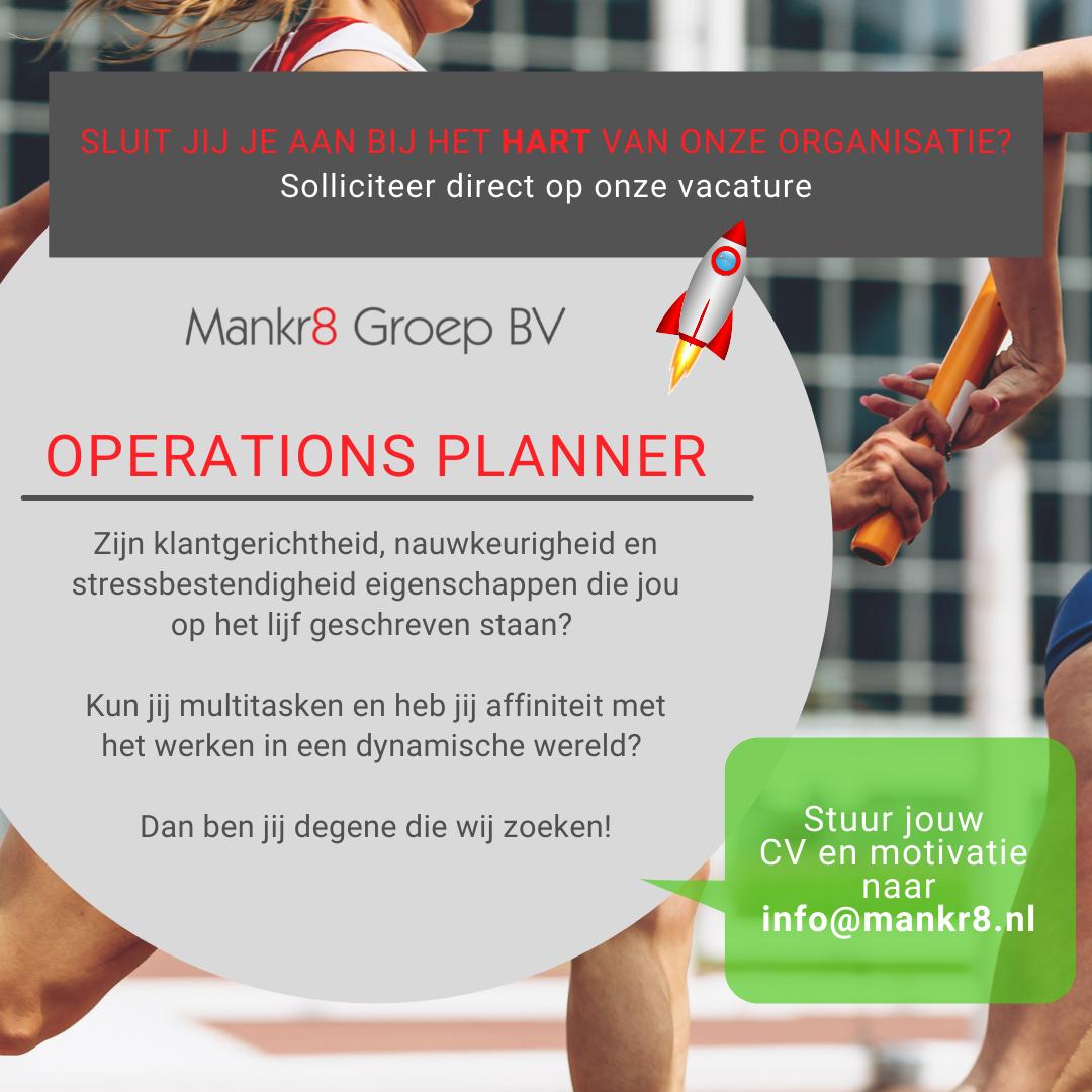 Vacature planner operations Mankr8 Groep Breda #hiring